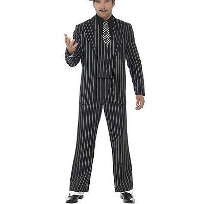Mens Gangster Mobster Boss Fancy Dress Costume Capone Suit by Smiffys