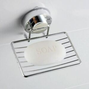 Suction Cup Soap Holder Stainless Steel Sponge//Soap Rack for Bathroom /& Kitchen