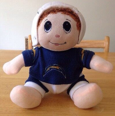 Vintage San Diego Chargers Plush Doll Wearing Uniform San Diego Chargers Uniform