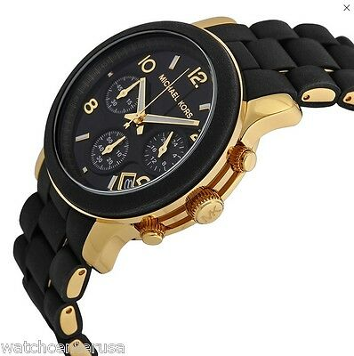 Michael Kors MK5191 Runway Black Catwalk Chronograph Oversized Women's Watch