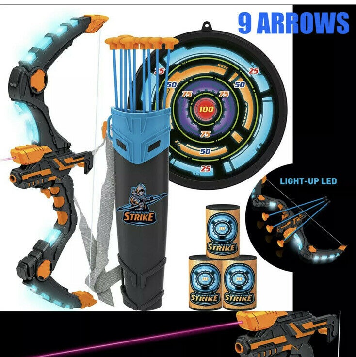 Best Set Kids Bow & Arrow Archery with LED - Great Toy 4 Indoor-Outdoor Game