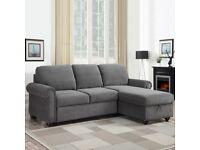 Fabric Sofa Bed with Storage, Grey £450 ONO