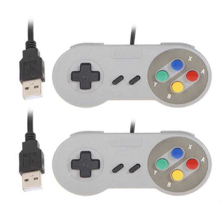 2 Pack SNES USB Controller Game Pad for PC Mac Linux Raspberry Pi 4 Retropie Controllers & Attachments