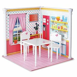 """NEW: Wood Table & Chairs set for 18""""dolls(Newberry,American girl"""