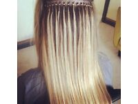 Full head of luxury russian nano hair extensions 18inch