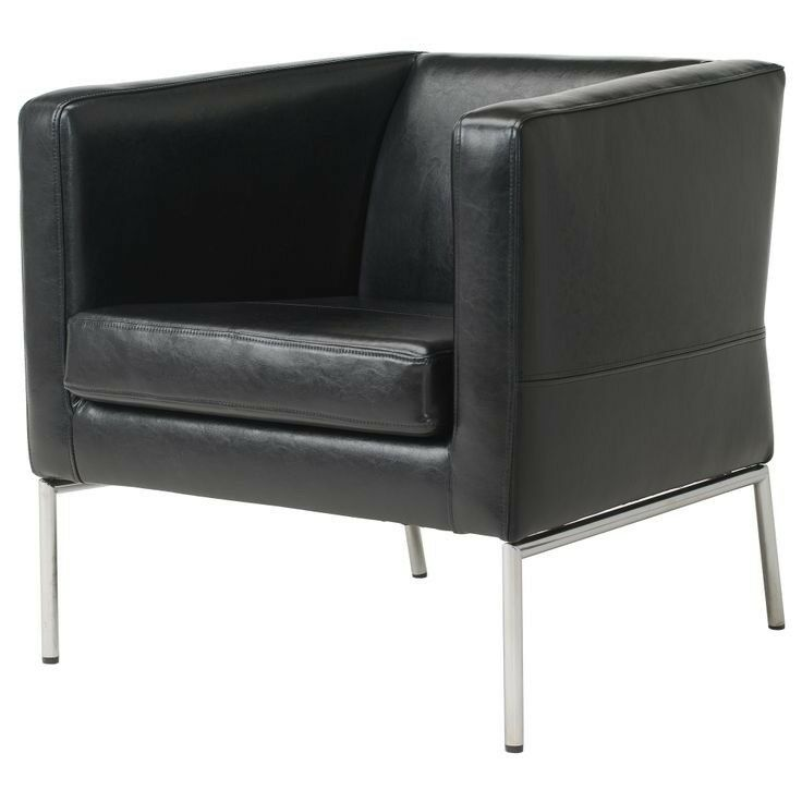 Ikea Klappsta Chair Black Leather Armchair Lovely Condition 220 New