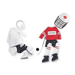 "NEW: Newberry Hockey and Ice Skating Set (For 18"" dolls)-NO TAX"