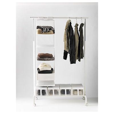 Used, IKEA RIGGA Clothes rack, Single Pole Telescopic Clothes Rack Clothes Dryer-WHITE for sale  MUMBAI