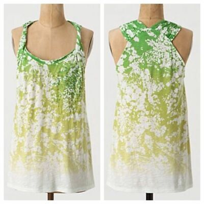 ANTHROPOLOGIE C.KEER UNDEREXPOSED TANK - SMALL GREEN