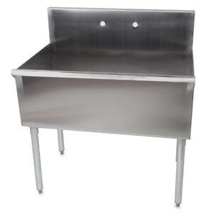 Industrial or Commercial Single or Double Tub Sink - Metal