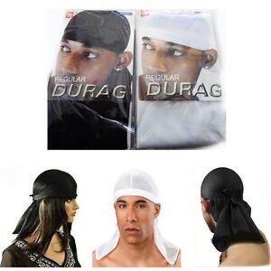 Men's Durag Du-rag Bandana Sports Du Rag Scarf Head Rap Tie Down Band Biker Cap