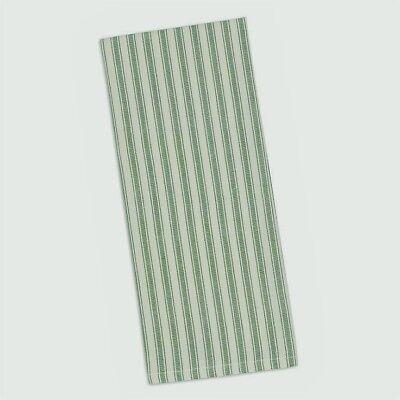 CLASSIC SAGE GREEN TICKING STRIPE 100% Cotton Dish Towel Design Imports