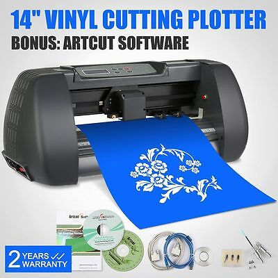 "14"" Vinyl Cutting Plotter Desktop Machine Artcut Software *Free Express Shipping"