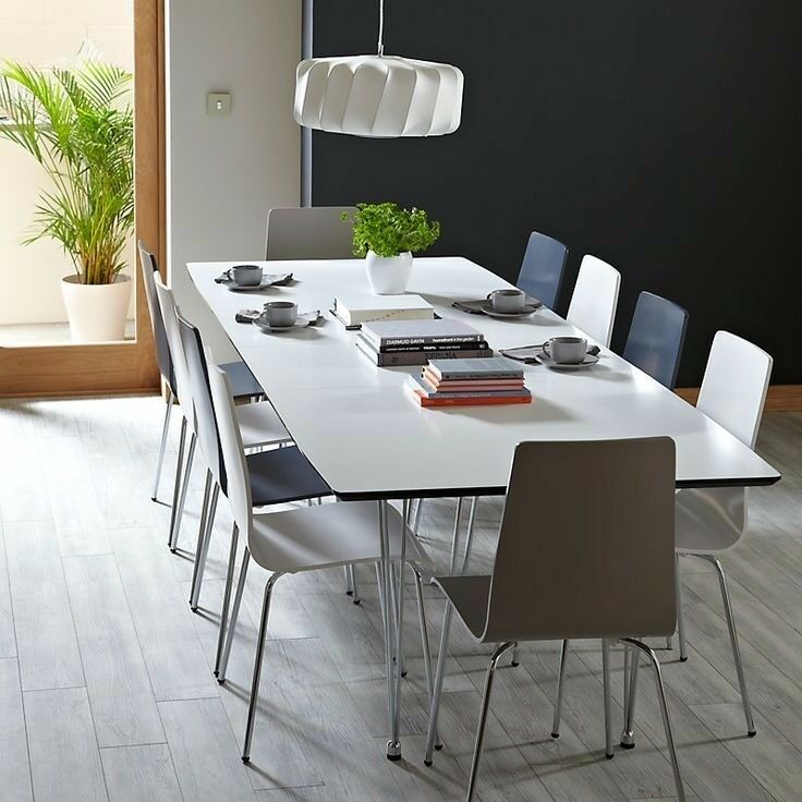 John Lewis Jasper 6-10 seat dining table and 6 chairs
