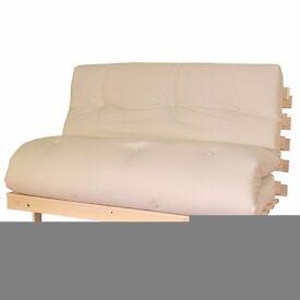 Cream double futon/Sofa