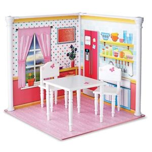 """NEW: Wood Table and Chairs Set for 18"""" Dolls"""