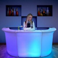 led glow portable bars and furniture rentals