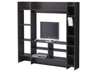 IKEA MAVAS BLACK ENTERTAINMENT TV UNIT, EXCELLENT !!