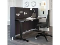 BEKANT acoustic screen dividers for desk / office 120 cm x 83 cm by IKEA in NEW & MINT Condition
