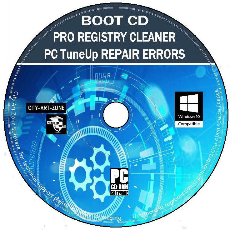 Pro Registry Cleaner Tuneup Errors Repair Free Disk Space Virus Removal PC CD