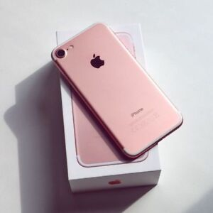 APPLE IPHONE 7 ROSE GOLD 128GB UNLOCK 1 YEAR APPLE WARRANTY