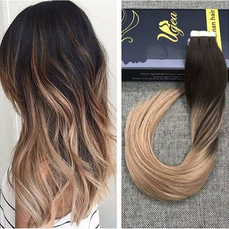 Very Bargain Angel Locks Dark Brown Blonde Ombre Hair Extensions Which Lasts 1 Year