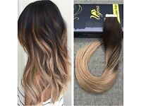 Very CHEAP bargain Angel locks dark brown / blonde ombre hair extensions which lasts 1 year! 20""