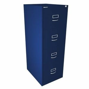 4 Drawer Blue Filing Cabinet