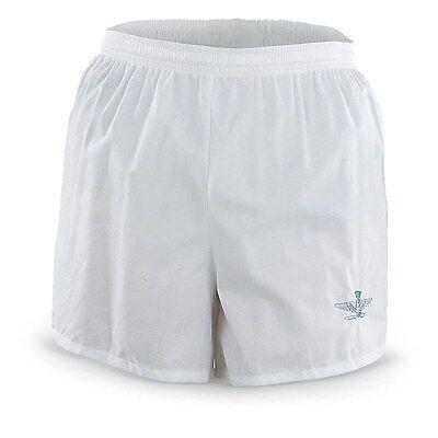 Mens See Through/Thru When Wet WHITE Cotton Beach  Shorts/Swim Trunks NUDE Look!