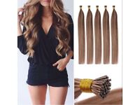 Excellent Grade Remy Human Hair Stick and U Tip Hair Extension Bundles Available