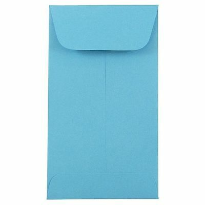 50-#3 COIN ENVELOPES 4.25x2.5 Light/Sky Blue Gummed Seal Acid Free 4-1/4x2-1/2 for sale  Shipping to India