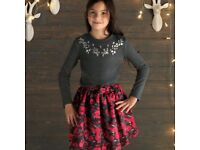 Girls Cherokee Black Rose Skirt Various Sizes BNWT