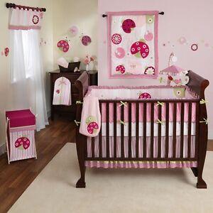 Tiddliwinks Ladybug Baby Girl Crib Bedding Set Sweetie Pie Baby