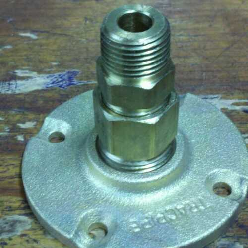 """TracPipe AutoFlare FGP-BFF-375 3/8"""" Male Brass Flange Fitting"""