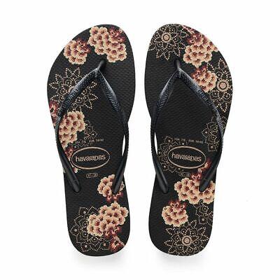 Havaianas Women's Slim Organic CF Flip Flop Black/Dark Grey Sandals 5-6 US/35-36