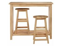 2 John Lewis 'Mission' bar stools, solid wood, £20 each