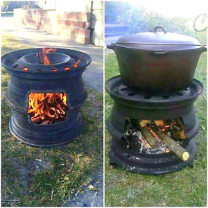 Wanted old car and truck wheels to make fire pits