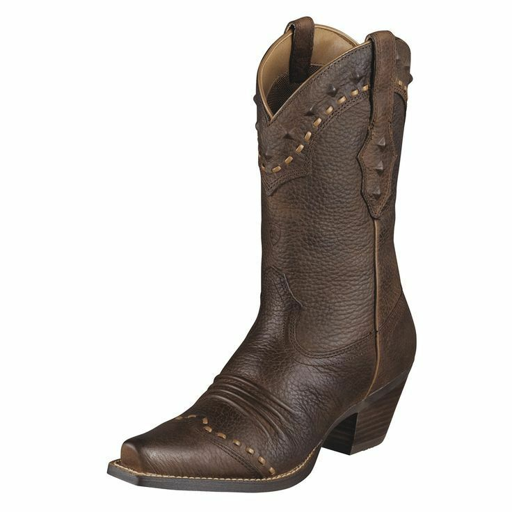 New Womens Ariat 10001368 Dixie Brown Leather Cowboy Boot