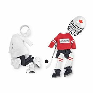 "NEW: Newberry Hockey and Ice Skating Set (For 18"" dolls)"