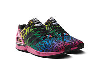 Adidas Unisex Zx Flux Leopard-Rainbow Torsion Colour Running Trainers UK-9.5 TO 10.5