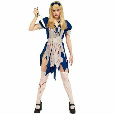 Malice In Horrorland Shining Twins Gothic Alice Halloween Zombie Large Bloody ](Twin Costumes Halloween)