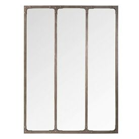 Metal Rustic Industrial Style Mirror 80x60cms New