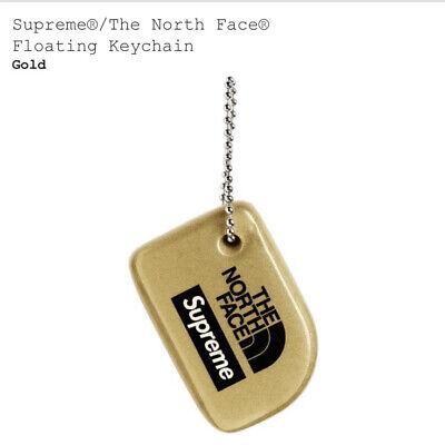 SUPREME NORTH FACE FLOATING KEYCHAIN (GOLD) SS20 PIN BLU BURNER PHONE BASKETBALL