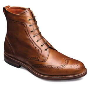 BNIB ALLEN EDMONDS DALTON WINGTIP BOOTS  IN WALNUT- SIZE 8.5D