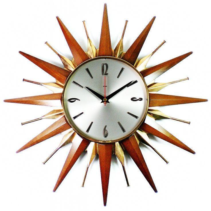 Metamec Sunburst Clock