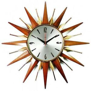 Sunburst Clock Ebay