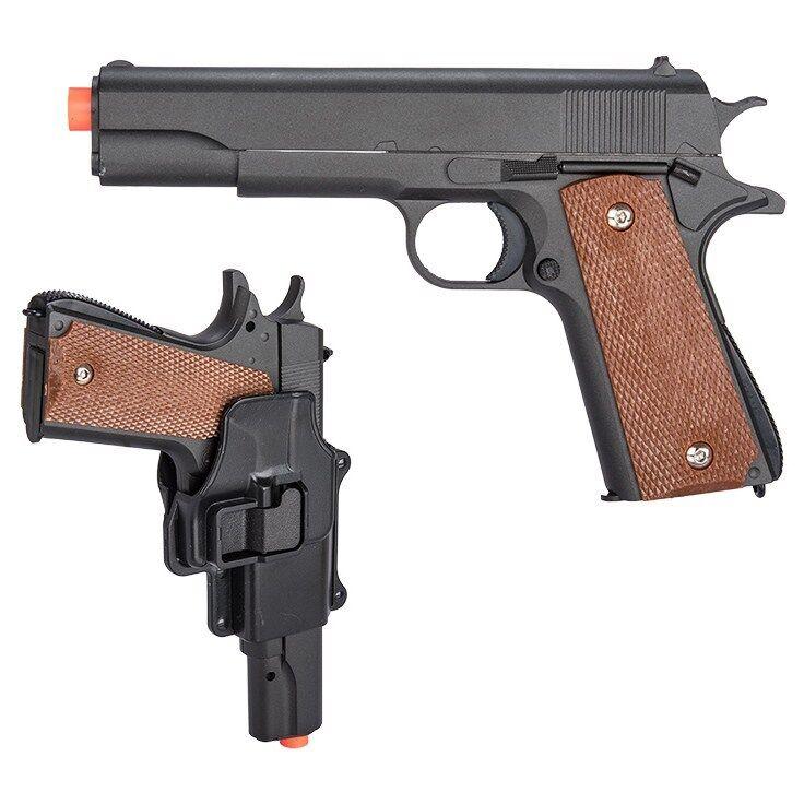 M1911 METAL SPRING AIRSOFT PISTOL HAND GUN w/ HOLSTER 6mm BB Full Size