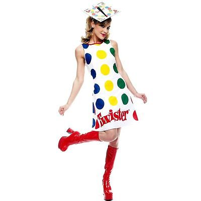 TWISTER GAME w/ SPINNER HAT ADULT COMICAL HALLOWEEN COSTUME SIZE MEDIUM 8-10 - Twister Game Costume