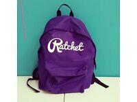 Purple ratchet bag