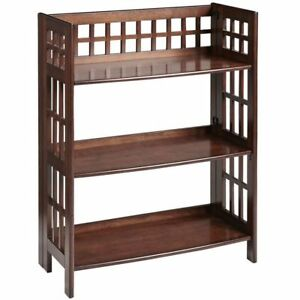 Brand New Fretted Tuscan Brown Low Folding Shelf